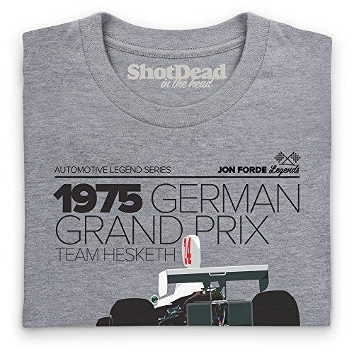Jon Forde 1975 Team Hesketh T-Shirt, Herren Grau Meliert