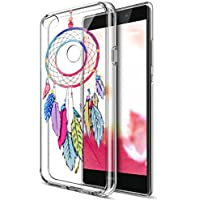 Huawei P8Lite funda, Huawei P8Lite (20172017Cover, ikasus Ultra Thin Suave TPU Caso, colorido arte pintado Mandala flores suave silicona caso de goma, cristal transparente floral suave carcasa de silicona para Huawei P8Lite 2017,