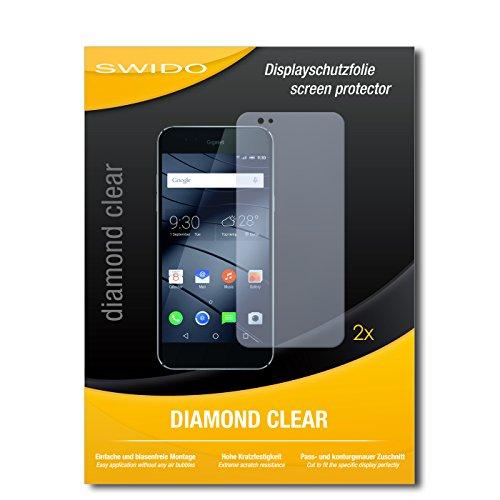 SWIDO 2 x Bildschirmschutzfolie Gigaset ME Pure Schutzfolie Folie DiamondClear unsichtbar