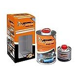 Foliatec 20604 Pellicola Spray Carrozzeria, Frozen Blue Metallico Opaco 900 ml + 100 ml Diluente