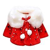 BOBORA Bambine ragazze Sintetico pelliccia inverno cappotto mantello capispalla Giacche 1-3 anni