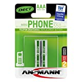 ANSMANN Micro AAA DECT Akkus 600mAh maxE ready2use HR03 NiMH 1.2V (2er Pack)