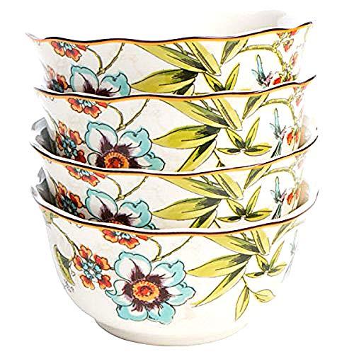 222 Fünfte Bella Vista Floral Blooms Suppen-/Müsli-/Dessertschalen, 21,6 cm Durchmesser, 4 Stück - 222 Fifth Dinnerware