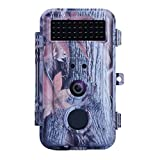 BlazeVideo 1080P 16MP Chasse Trail Wildlife Cameras, Chasseur Scouting Game Cam, Surveillance des Animaux et des Plantes, Capteur de Mouvement Activé IP56 Imperméable à L'eau avec Night Vision 40pcs IR LED Jusqu'à 65ft, Enregistrement Vidéo, 2.36' Écran LCD