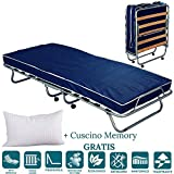 EVERGREENWEB Best Single Folding Bed with Mattress...