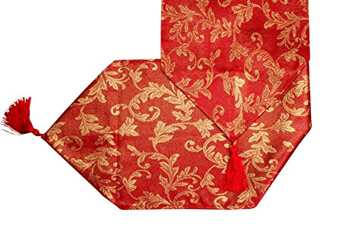 ed Gold Table Runner Luxury Luxury Printed Xmas / Christmas Heather by KT (Red Christmas Table Runner)