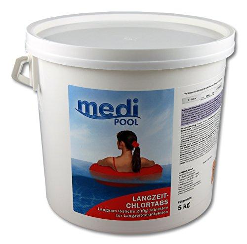 Medipool Schwimmbadpflege Langzeit-ChlorTabs, 200gr, 5 kg Eimer