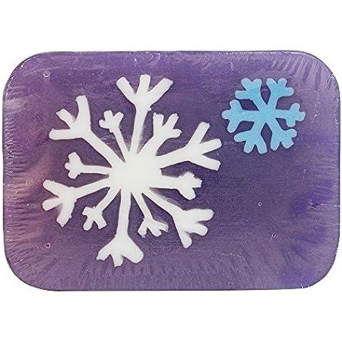 Hugo Naturals - Bar artesanal jabón copo de nieve vainilla menta - 6 oz.