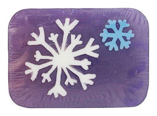 Hugo Naturals - sapone artigianale Bar fiocco di neve alla vaniglia Peppermint - 6 oz.