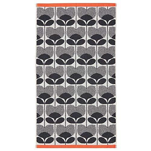 4 X Offiziell Lizenzierte Designer Orla Kiely 100% Cotton Kletterrose Blumenmuster Orange Handtücher -