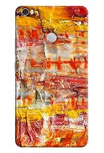 Omnam Colorful Wax Printed Designer Back Cover Case For Xiaomi Mi Max