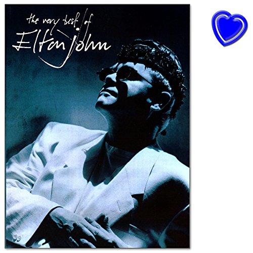 Preisvergleich Produktbild The Very Best Of Elton John - Songbook für Piano, Vocal and Guitar mit bunter herzförmiger Notenklammer