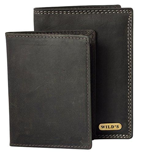 Schwarzes Ausziehbares (Halal-Wear Ledergeldbörse Schwarz Leder Hochformat Lederbörse Geldbeutel Männer Wildleder Geldbörse Brieftasche)