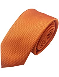 171da9ff5d0b Mens Skinny Tie Necktie with Stripe Textured 6 cm / 2.4inches- Various  Colors