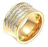 AMDXD Damen-Ringe 18K Vergodet Zirkonia Gold Elegante Frauen Ring Gr.54 (17.2)