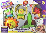 #9: little grin sweet cuddle cot Musical Rattle 6 pc Set for Infants