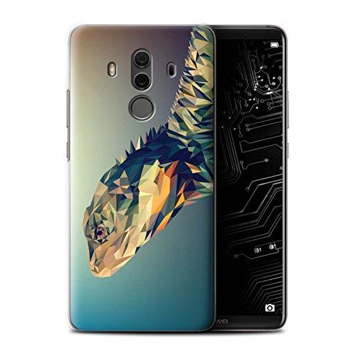 (Stuff4® Hülle/Case für Huawei Mate 10 Pro/Leguan-Echse/Reptil Muster/Geometrisches Tier Tierwelt Kollektion)