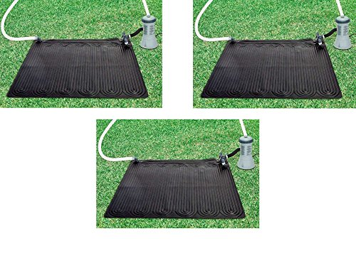 Oferta compuesto de 3 paneles solares  Intex  panel solar que aumenta la temperatura de tu piscina fuoriterra de aproximadamente 3/5gr. en función de las dimensiones de la piscina atmosferiche. y condiciones   para el baño en tu jardín para invierno ...