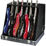 Rocket EG06CA GDC-6 S Etui pour 3 Guitares acoustiques/6 Guitares électriques Noir