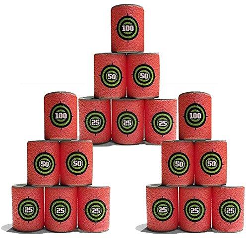 Preisvergleich Produktbild ElEOPTION weiche EVA Bullet Zielscheibe Dart Foam Kinder Toy Gun Shoot Dart für Nerf N-Strike Elite Serie Blasters (18pcs)