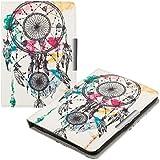 kwmobile Hülle für Tolino Vision 1 / 2 / 3 / 4 HD - Flipcover Case eReader Schutzhülle - Bookstyle Klapphülle Traumfänger Kleckse Design Mehrfarbig Blau Weiß