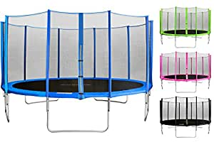 SixBros. Sixjump 1,85 - 4,60 M Trampoline de jardin bleu Certifié par Intertek/GS Filet de sécurité CST185/L1564