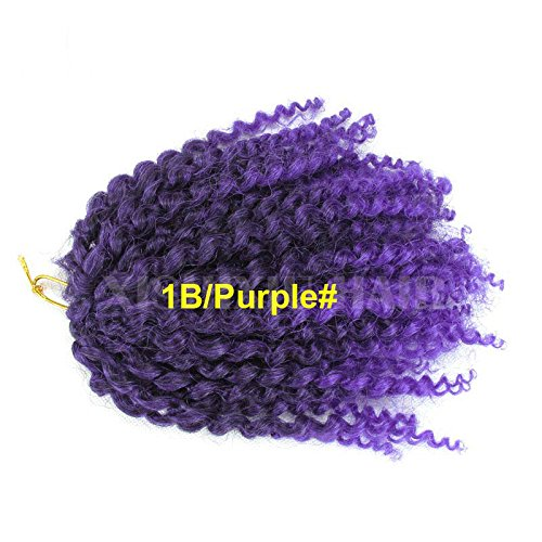 3 pièces/lot Afridi (Peuple) naptural Jerry Frisés de Mali Bob Afrique Ombre Extension de Cheveux Synthétiques Kanekalon Crochet pour coiffure