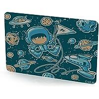Reer 5278 Scheiben-Set mit austauschbaren Motivscheiben, Astronaut, blau