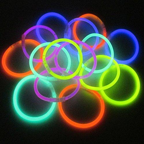 K7plus® 15 x Knicklichter - GLOW IN THE DARK - Leuchtstäbe - Leuchtarmbänder - Leuchtketten - mit Verbindungsstücke