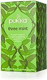 PUKKA HERBS THREE MINT ORGANIC TEA SACHETS 20 TEA BAGS (PACK OF 4)