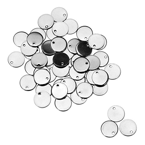 YF Anhänger für Ausweis, Edelstahl, blanko, 4,3 x 2,2 cm, silberfarben, 3 Stück, edelstahl, silber, 8 mm