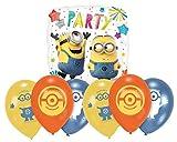 Libetui Minions Luftballons Geburtstag Deko-Set Happy Birthday Deko-Luftballons Balloons Minions