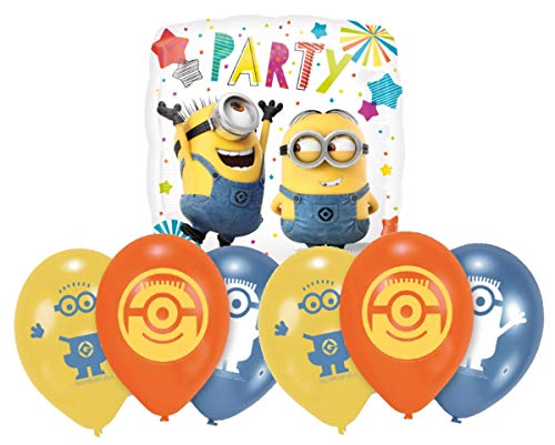 allons Geburtstag Deko-Set Happy Birthday Deko-Luftballons Balloons Minions ()