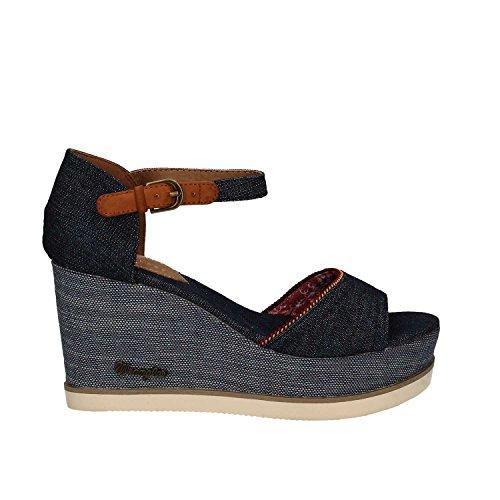 Wrangler WL171681 Sandalo zeppa Donna Blu