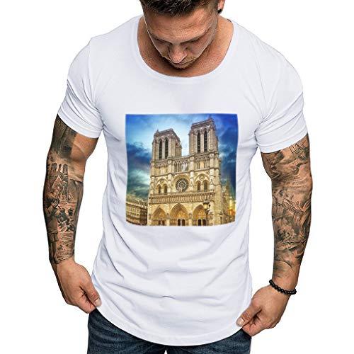 2019, Herren Notre Dame Print T-Shirt Herren T-Shirt Shirt 3D Kurzarm T-Shirt Top - Pantera-metal-skull T-shirt
