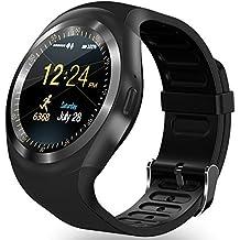 "Bluetooth Smart Watch reloj de pulsera, AMENON clásica IPS redonda pantalla táctil 1.2 ""resistente al agua Smartwatch celular con SIM TF ranura para tarjeta Handsfree llamada Fitness Tracker para Android teléfonos inteligentes"
