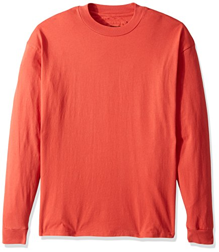 Heavyweight Long Sleeve Tee (Zanerobe Herren Cotton Heavy-Weight Offset Box Long Sleeve Tee T-Shirt, Rot (Vintage Red), Mittel)