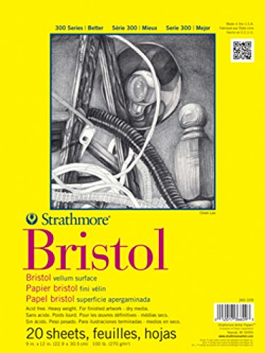 Strathmore Bristol - Papel de pergamino (270 gms, 20 hojas)