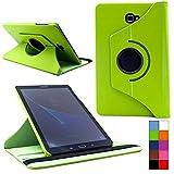 COOVY® Cover für Samsung TAB A 10.1 SM-T580 SM-T585 Rotation 360° Smart Hülle Tasche Etui Case Schutz Ständer Auto Sleep/Wake up | Farbe grün