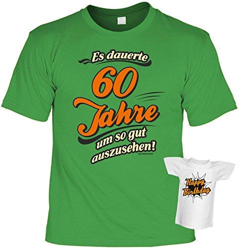 Geburtstagsgeschenk Geschenk zum Geburtstag T-Shirt Es dauerte 60 Jahre Geschenkidee für das Geburstagskind Shirt Leiberl Leiberl Hellgrün