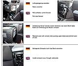 KUDA Telefonkonsole passend für Opel Zafira B in Kunstleder schwarz