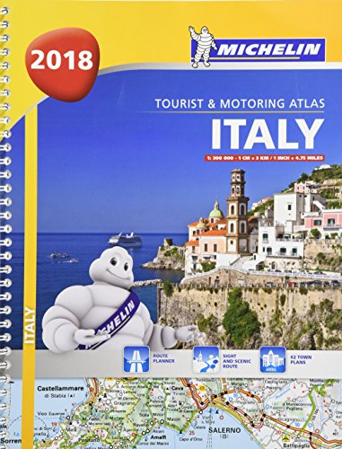 Italy - Tourist and Motoring Atlas 2018 (A4-Spiral) (Michelin Road Atlases)