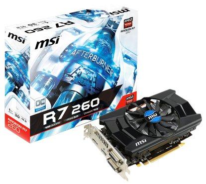 Msi Amd Radeon R7 260 1gb Graphics Card