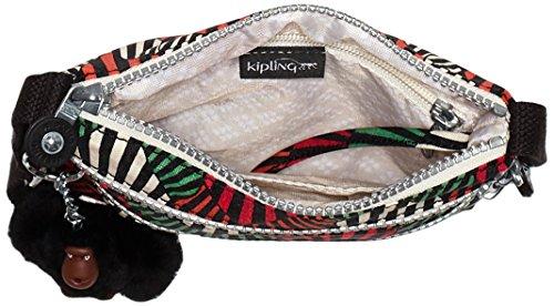 Kipling ALVAR S K15178, Borsa a tracolla unisex adulto, 19x18x2 cm (L x A x P) Multicolore (Tropic Palm Ct)