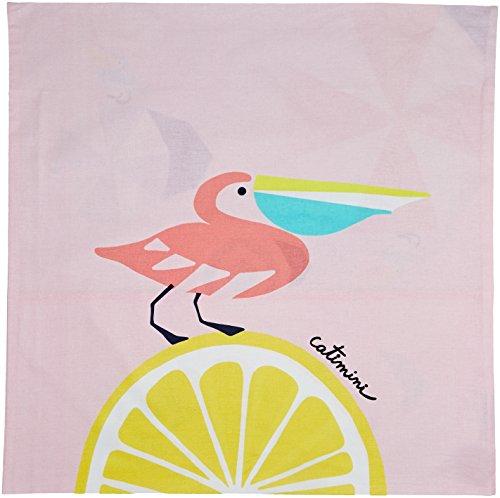 Catimini Plage des Pélicans Taie d'oreiller Coton Multicolore 64 x 64 cm