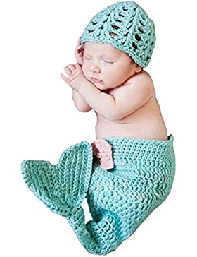 DELEY Baby Principessa Ragazze Uncinetto Cosplay Coda della Sirena Costume Neonato Vestiti del Vestito Foto Puntelli...