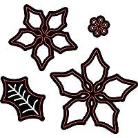 Darice 2014–38–Fustelle, stella di Natale, metallo, nero,