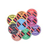 Magideal Ceramic Casino Chips Poker Chip...