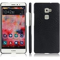 Apanphy Huawei Mate S Funda, Textura de cuero PU de alta calidad Ultra Slim sensacion comoda para Carcasa Huawei Mate S, Negro