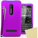 Accessory Master 5055716365429 Silikon Gel Tasche mit Displayschutzfolie und Stylus für Nokia Asha 210 lila preiswert